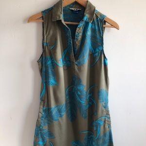 Kavu Zillah Dress Outdoors Size XS Khaki Turquoise